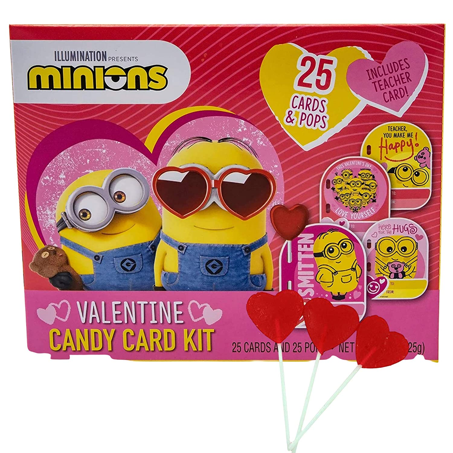 Minions Valentine's Day Card Max 72% OFF All items free shipping and Candy Classroom Exchang Kit for