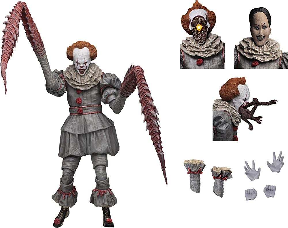 Neca - figurine it movie 2017 –  statua ultimate pennywise dancing clown 18 cm B07M6RMSRX