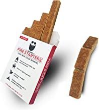 Big Beard Fire Starter - Charcoal Starter, Fire Starter Cube (45 Squares), Fire Starter Squares, Fire Starter for Grill, FireStarter, Fire Starter for Camping, BBQ FireStarter, Fireplace Fire Starter