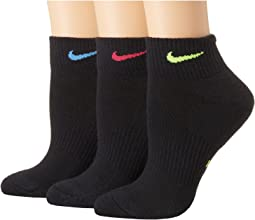 Performance Cushioned Quarter Training Socks 3-Pair Pack