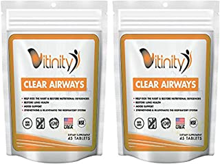 Lung Cleanse for Smokers - Clear Your Airways Respiratory Support Supplement-Natural Lung Health Complex-Lung Detox for Those with Breathing,Asthma,Seasonal Allergy Relief Seekers (30 Day)