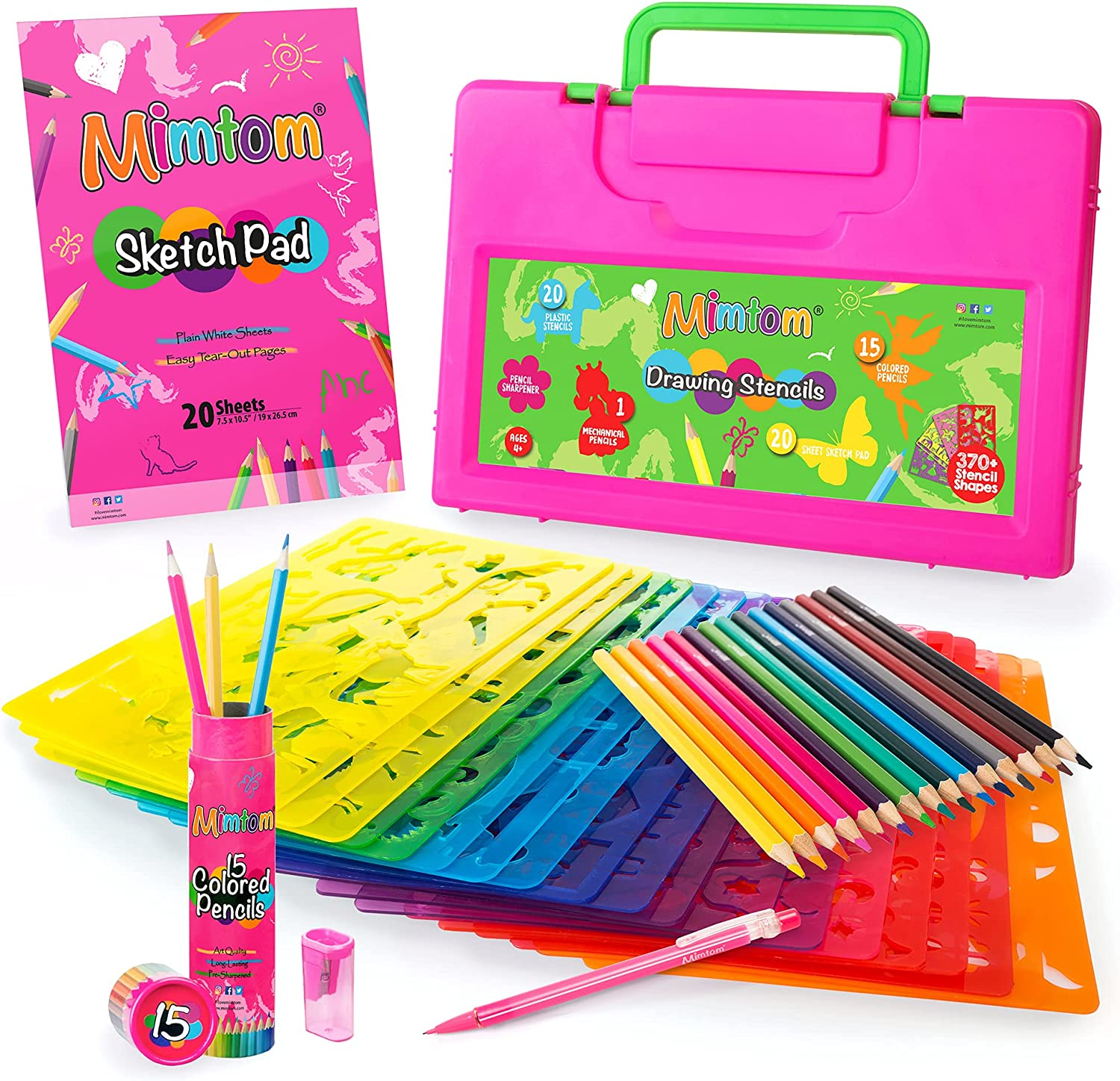 Mimtom Drawing Stencil Excellent Kit for Kids and Set wit Girls PC Art 58 Ranking TOP17