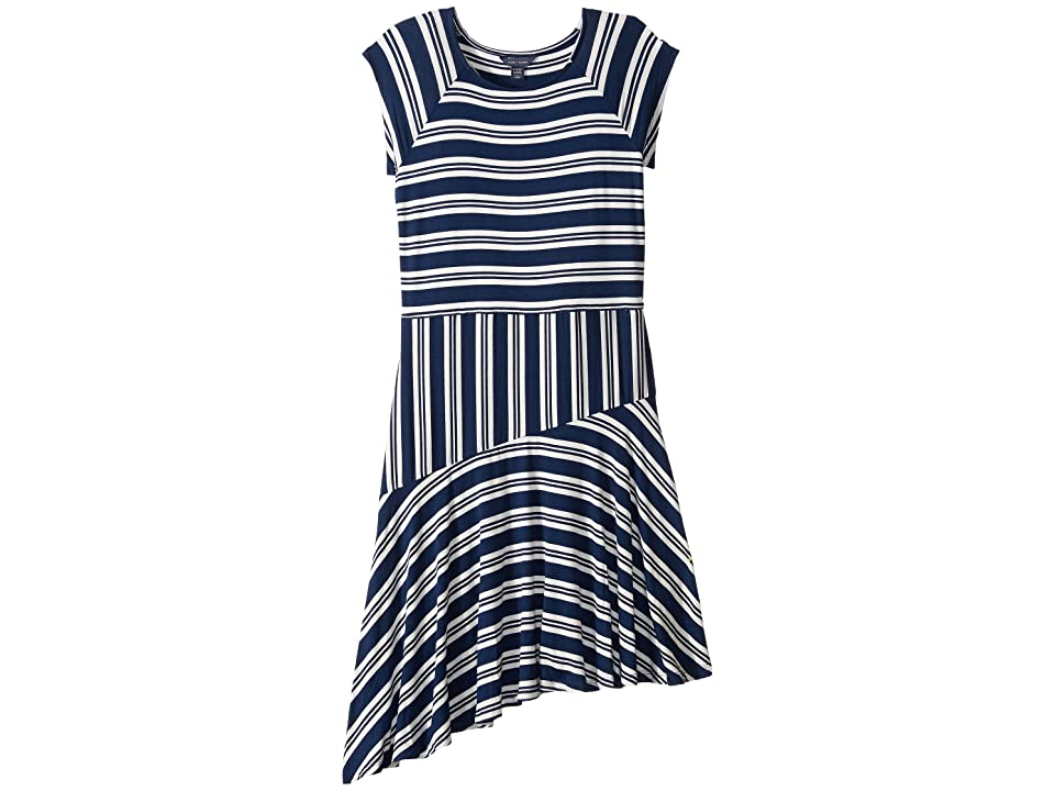 Tommy Hilfiger Kids Asymmetrical Dress (Big Kids) (Flag Blue) Girl