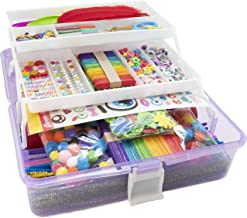 Olly Kids Arts and Crafts Supplies Set- 1000+ Pieces Giftable Craft Box for Kids: DIY Craft Supplies for Toddlers, School ...