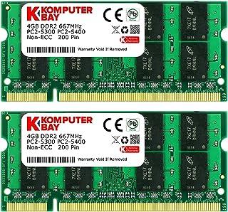 Komputerbay KB 8GB 2x4GB - Memoria RAM de 8 GB (DDR2, 2 x 4 GB, 667 MHz, 200-pin)