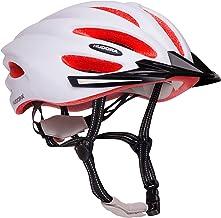 HUDORA Basalt - Casco de Ciclismo para Mujer y Hombre, Talla 49-63, Color Blanco y Naranja
