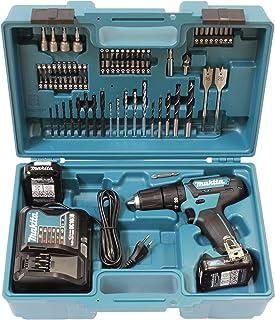 Makita HP333DSAX1 Taladro atornillador inalámbrico 12 V máx. 2 baterías y cargador en maletín de transporte, 12 W, Color:,...