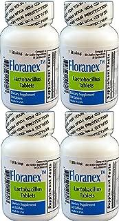 Floranex Probiotic 2 Million CFU, Lactobacillus Acidophilus for Colon Digestive Health, Generic for Lactinex, Shelf Stable No Refrigeration, 50 Tablets per Bottle, 4-Pack