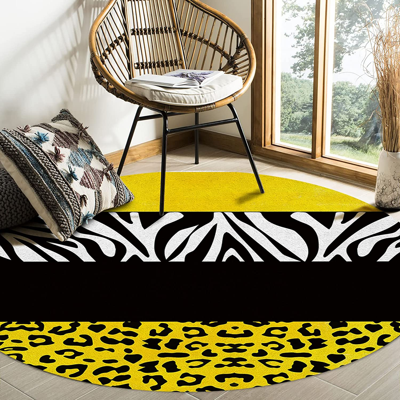 Savannan Round Translated Area Rugs Fashion Mats Floor Soft 3ft Cozy Non-Slip
