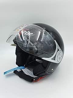 """61-62 Armor /· AV-84 /""""Vintage Deluxe/"""" /· Casco Demi Jet /· Moto Urbano Piloto Motocicletta Helmet Scooter /· ECE certificato /· Visor /· Click-n-Secure/™ Clip /· Borsa per il trasporto /· XL"""