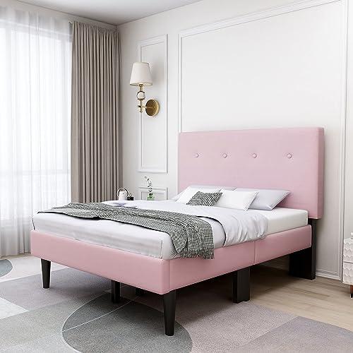 Beautiplove Upholstered Twin Platform Bed