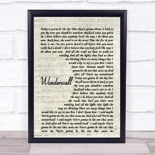 Wonderwall Script Quote Song Lyric Print