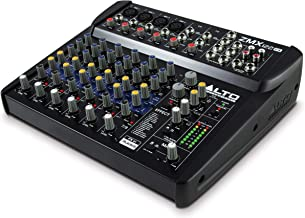 Alto Professional ZMX122FX | 8 Channel Compact Audio Mixing Desk with Built-In Effects, Four XLR Microphone Inputs and Two...