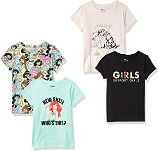 Amazon Brand - Spotted Zebra Girls Disney Star Wars Marvel Frozen Princess Short-Sleeve T-Shirts