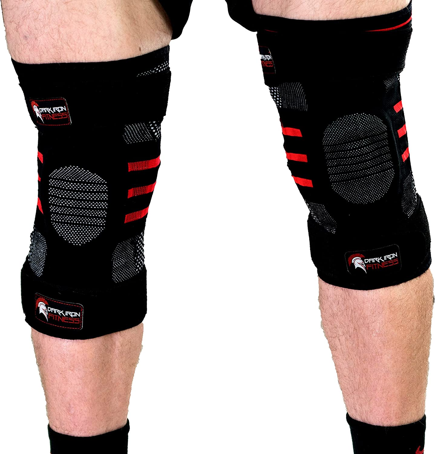 Weightlifting Knee Sleeves for Crossfit Powerlifting and Weight Training   1 Pair of Compression Sleeve Wraps for Knees with Power Lifting Padded Support Stabilizer Brace to Squat Better