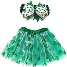 Rush Dance Ballerina Lime Green St Patrick's Day Shamrock Clover Tutu & Headband