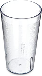 Carlisle 5212-207 Stackable Shatter-Resistant Plastic Tumbler, 12 oz., Clear (Pack of 24)