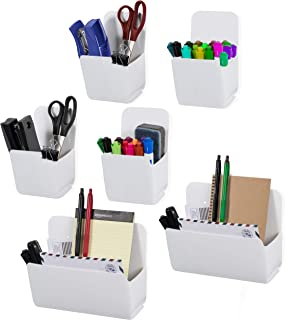 Wallniture Origami Multipurpose Wall Mounted Organizers for Office, Kitchen and Nursery White, Recycled Plastic, Various Sizes, Set of 6, Assembly Required