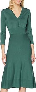 Noa Essential Viscose Knit Dress Long Sleeve,Below Knee Vestito Casual Donna