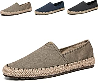 Men's Fashion Casual Cloth Shoes Canvas Slip-on Loafers Espadrille Leisure Walking Sneakers Moccasins Boat Shoes