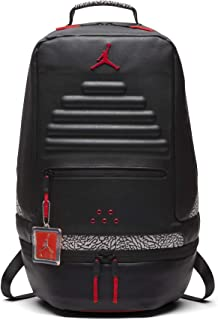 38ae102f6c1 Nike Air Jordan Retro 3 III Black Cement Grey Backpack Gray Red 88 9A0018  KR5
