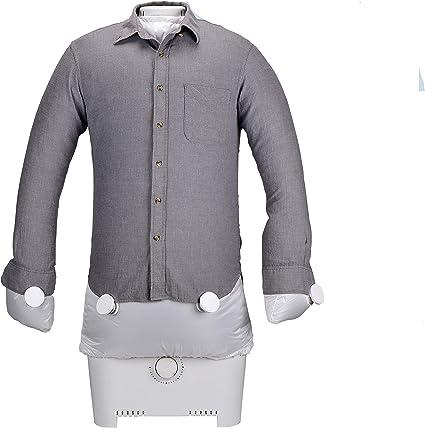 SereneLife Máquina de 1400 W, 1400 W, chupete para camisas, blusas y mucho más, seca y plancha la ropa automáticamente en un solo paso, SLIRX45, gris