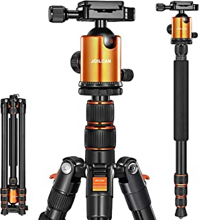 Joilcan 80-inch Tripod for Camera, Aluminum Tripod for DSLR,Monopod, Lightweight Tripod with 360 Degree Ball Head Stable f...
