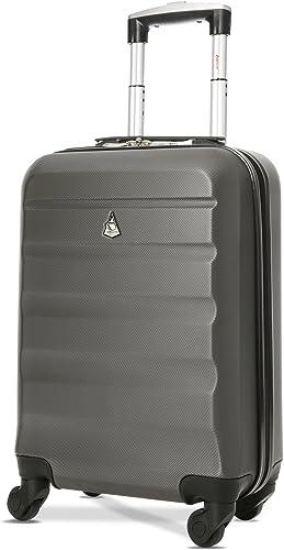 Aerolite ABS Bagage Cabine Bagage à Main Valise Rigide Légere à 4 roulettes, pour Ryanair, Easyjet, Air France, Lufth...