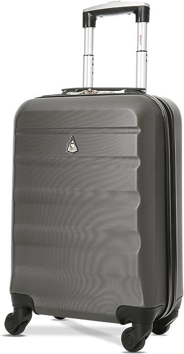 Bagaglio a mano 55x35x20 cm - valigia rigida guscio duro e antigraffio con 4 ruote trolley aerolite abs B01B4SU91G