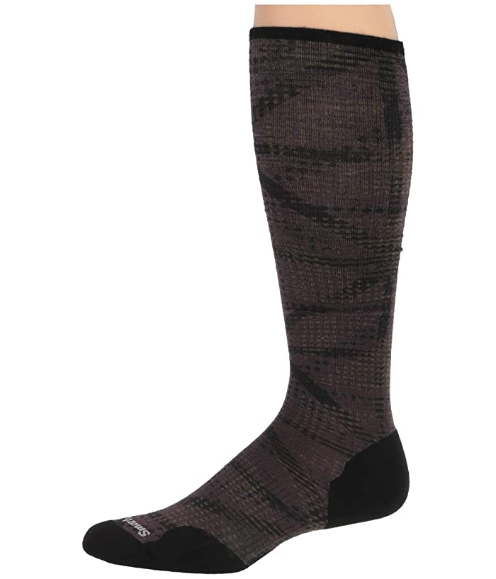 Smartwool  Compression On The Move Print OTC (Bordeaux) Mens Crew Cut Socks Shoes