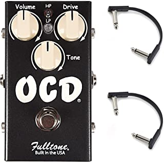 Fulltone OCD v2 CME Exclusive Limited Edition Black w/RockBoard Flat Patch Cables Bundle
