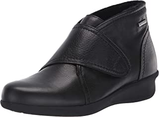 Aravon Women's Fairlee Instep Strap Ankle Boot, Black Leather, 6
