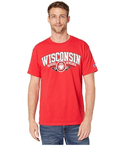 Champion College Wisconsin Badgers Jersey Tee (Scarlet 3) Men