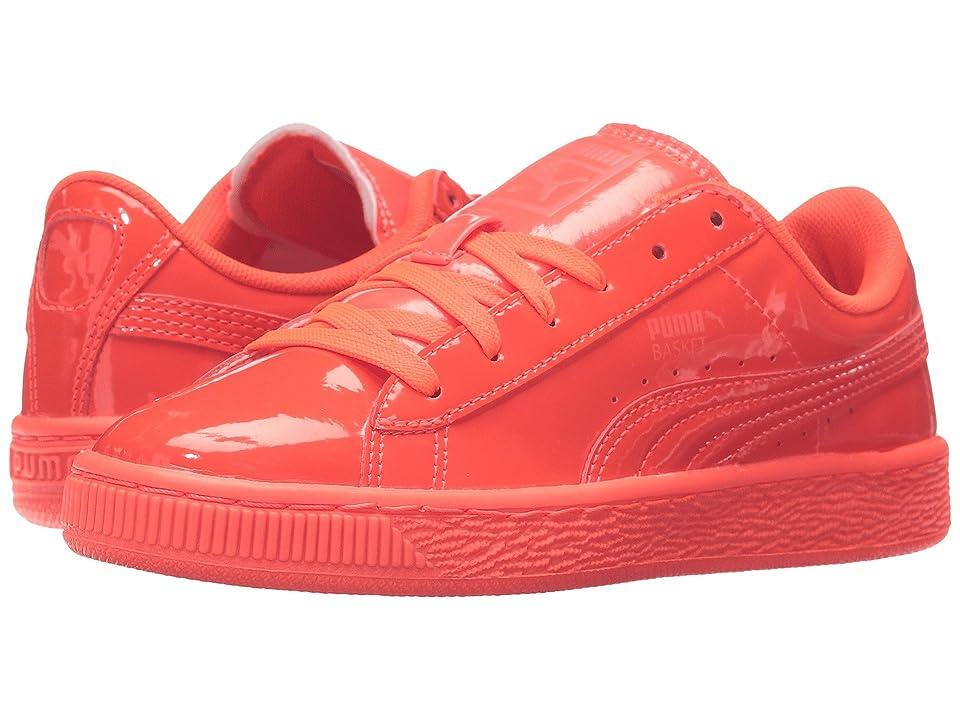 Puma Kids Basket Classic Patent Jr (Big Kid) (Red Blast/Red Blast) Kids Shoes
