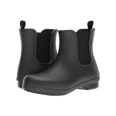 Crocs Freesail Chelsea Boot (Black/Black) Women
