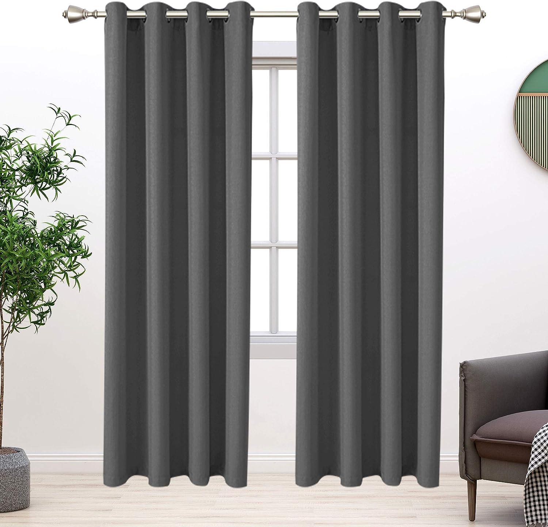 BONZER Linen Look Textured Overseas parallel import regular item Curtains Light Filterin - Bedroom Indianapolis Mall for