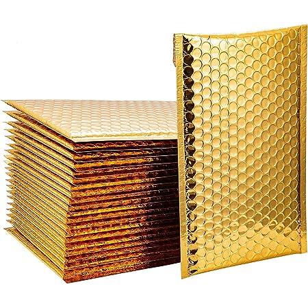 18x23cm 25pcs Métalisées Enveloppe Bulle Enveloppe Plastique Expedition Enveloppe A5 Papier Bulle Déménagement Enveloppes à Bulles D'or