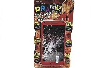 PRANKZ Fake Cell Phone Cracked Screen Prank Novelty Broken Joke Red