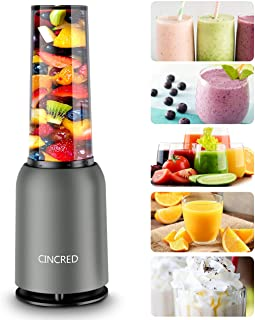 [Updated 2020 Version] Personal Countertop Blender for Milkshake, Fruit Vegetables Drinks, Smoothie, Small Mini Portable F...