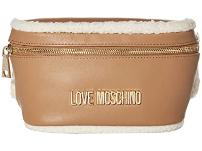 LOVE Moschino Stay Warm Fanny Pack (Fantasy Print Camel) Bags
