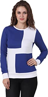 TEXCO Cotton Polyster Fleece Long Sleeve Royal Blue & White Sweat Shirt