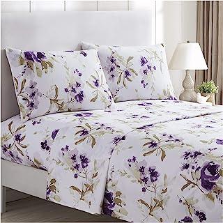 Purple Allessia Wrinkle Free Super Soft Sheet Set
