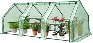 VIVOSUN Portable Greenhouse with Roll-up Large Door, 94.5x36x36-Inch Low Tunnels for Garden Plant