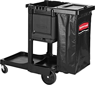 Rubbermaid Commercial Products Executive Series Housekeeping Cart, Black (1861430)