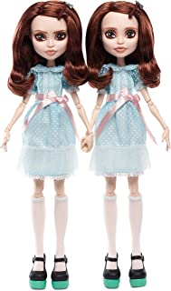 Monster High The Shining Grady Twins Collector Doll 2-Pack, 2 Collectible Dolls (10-inch) in Fashions and Film-Inspired Ac...