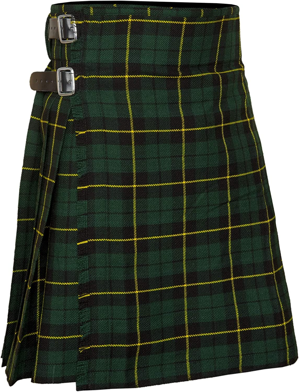 AllSafe Traders Men's 8 Yard Deluxe Scottish Tartan Kilt, Highland Wedding Kilt