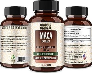 Oladole Natural Maca (Lepidium meyenii) 900 mg Raw, Reproductive Health*, 120 Veg Capsules