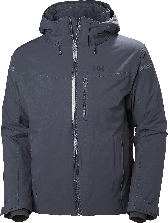 Helly Hansen Men's Swift 4.0 Waterproof Insulated Ski Jacket, Graphite blueee, Medium