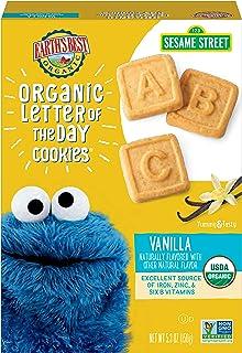 Earth's Best 饼干,幼儿零食,香草味,芝麻街,每天写信,5.3 盎司(6 件装)