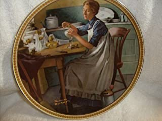 1983 Knowles Working in the Kitchen Norman Rockwell Plate Rediscovered Women